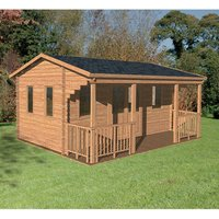 Forest Forest 5 x 4m Harlech Log Cabin (Assembled)