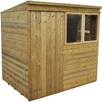 Click to view product details and reviews for Forest Forest 7x5ft Pent Shiplap Pressure Treated Shed Assembled.