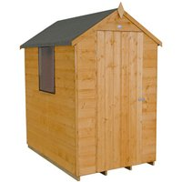 Forest Forest 4x6ft Apex Shipland Dipped Shed Assembled