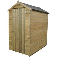 Click to view product details and reviews for Forest Forest 4x6ft Apex Pressure Treated Shiplap Shed Assembled.