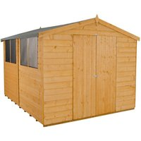 Forest Forest 8x10ft Apex Shiplap Dipped Double Door Shed (Assembled)