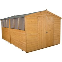 Forest Forest 8x12ft Apex Shiplap Dipped Double Door Shed (Assembled)