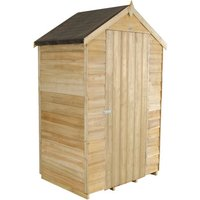 Forest Forest 4x3ft Apex Overlap Pressure Treated Shed (Assembled)