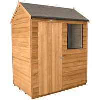 Forest Forest 6x4ft Reverse Apex Overlap Dipped Shed (Assembled)
