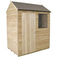Forest Forest 6x4ft Reverse Apex Overlap Pressure Treated Shed Assembled