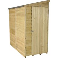 Forest Forest 6x3ft Pent Overlap Pressure Treated Shed (Assembled)