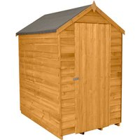 Forest Forest 4x6ft Apex Overlap Dipped Shed No Windows Assembled