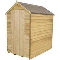 Forest Forest 4x6ft Apex Overlap Pressure Treated Shed with No Window (Assembled)