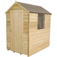 Forest Forest 4x6ft Apex Overlap Pressure Treated Shed Assembled