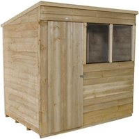 Click to view product details and reviews for Forest Forest 7x5ft Pent Overlap Pressure Treated Shed Assembled.