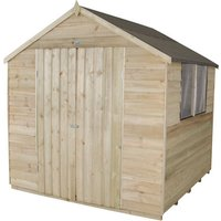 Click to view product details and reviews for Forest Forest 7x7ft Apex Overlap Pressure Treated Double Door Shed Assembled.