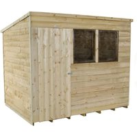 Click to view product details and reviews for Forest Forest 8x6ft Pent Overlap Pressure Treated Shed Assembled.