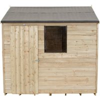 Click to view product details and reviews for Forest Forest 8x6ft Reverse Apex Overlap Pressure Treated Shed Assembled.
