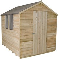 Click to view product details and reviews for Forest Forest 6x8ft Apex Overlap Pressure Treated Shed Assembled.