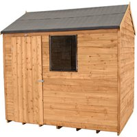 Click to view product details and reviews for Forest Forest 8x6ft Reverse Apex Overlap Dipped Shed Assembled.