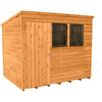 Forest Forest 8x6 Pent Overlap Dipped Shed (Assembled)