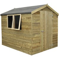 Click to view product details and reviews for Forest Forest 6x8ft Apex Pressure Treated Shiplap Shed Assembled.