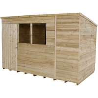 Click to view product details and reviews for Forest Forest 10x6ft Pent Overlap Pressure Treated Shed Assembled.