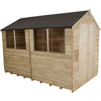 Forest Forest 6x10ft Apex Overlap Pressure Treated Shed (Assembled)