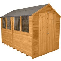 Forest Forest 8x10ft Apex Overlap Dipped Shed Assembled
