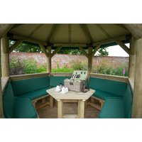 Forest Forest Set of 5 Cushions for 3.6m Hexagonal Garden Gazebo (Green)