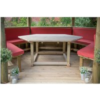 Forest Forest 5 Set Cushions for 3.6m Hexagonal Garden Gazebo (Terracotta)