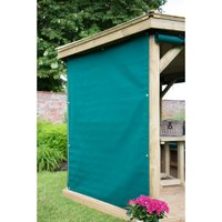 Forest Forest 5.1m Oval Set of 8 Garden Gazebo Curtains (Green)