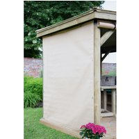Forest Forest Set of 8 Curtains for the 6m Oval Garden Gazebo (Cream)