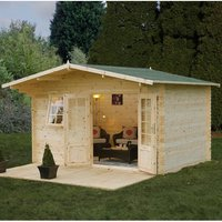 Forest Forest 4 x 3m Buxton Log Cabin (Assembled)