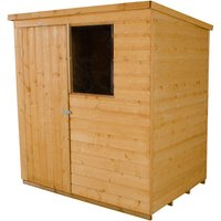 Forest Forest 6x4ft Pent Shiplap Dipped Shed Assembled