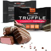 The Protein Works Protein Truffles Singles Erdbeer-Käsekuchen              Produktbild