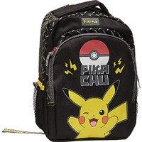 Rugtas met pikachu print met voorvak met meshpockets aan de zijkant met verstelbare schouderbanden met ...
