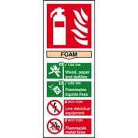 Fire Extinguisher: Foam Sign, S/A Vinyl