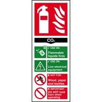 Fire Ext.: CO2 Sign Rigid 1mm PVC Brd
