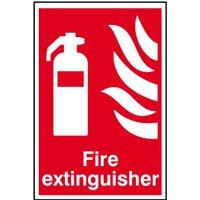 Fire Extinguisher Sign, S/A S.Rigid PVC
