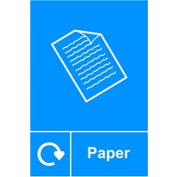 'Spectrum Recycling Sign - Paper Rpvc