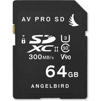 Angelbird 64GB AV Pro UHS-II V90 SDXC Memory Card