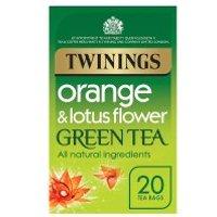 Twinings orange & lotus flower green tea 20 tea bags