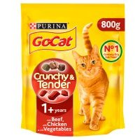 PURINA ® GO-CAT ® CRUNCHY&TENDER ADULT Cat with Beef, Chicken & added Vegetables dry food