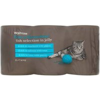Waitrose special recipe fish in jelly cat food selection, 6 x 400g tins