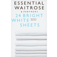essential Waitrose Bright White Sheets