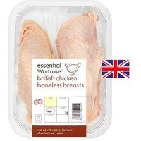 essential Waitrose 2 boneless British chicken breasts