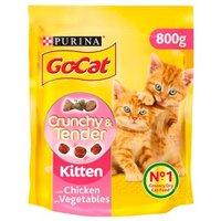 Go-Cat Crunchy and Tender Kitten Dry Cat Food Chicken