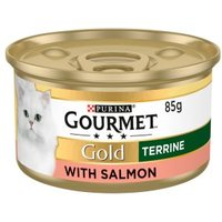 Gourmet Gold Tinned Cat Food Terrine With Salmon