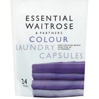 essential Waitrose Laundry Capsules Colourcare 24 washes