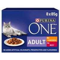 Purina ONE Adult Chicken & Beef Cat Food