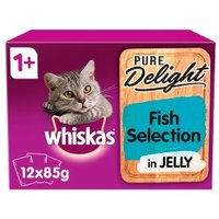 Whiskas 1+ Pure Delight Fish Selection in Jelly