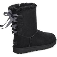 UGG Womens Short Bow Boot in Black, Size 7, Suede