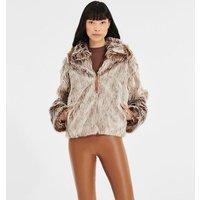 UGG Womens Kali Faux Fur Jacket in Beachwood, Size XS
