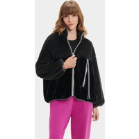 UGG Womens Marlene Sherpa Jacket in Black, Size Medium